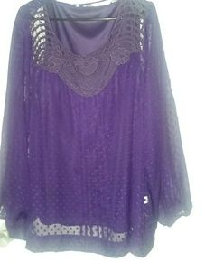 Royal purple blouse